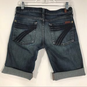 7 For All Mankind Dojo Denim Bermuda Jean Shorts
